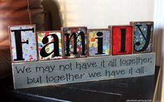 """Capital B: Wood Creations of Idaho Falls Mothers Day """"Family' Blocks and Giveaway Mothers Day Special, Mothers Day Presents, Mother Day Gifts, Gifts For Mom, Wooden Projects, Wooden Crafts, Diy Craft Projects, Easy Diy Gifts, Cute Gifts"""