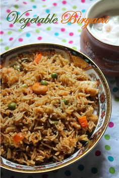 Vegetable Biryani Recipe / Vegetable Biryani in Pressure Cooker / Restaurant… Vegetable Recipes, Vegetarian Recipes, Cooking Recipes, Rice Recipes, Recipies, Mushroom Recipes, Curry Recipes, Vegetable Biryani Recipe, Vegetarian Cooking