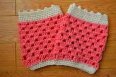 crochet leg warmers | wholesale women teen Crochet Leg warmers boot Cuffs Boot toppers, pink ...