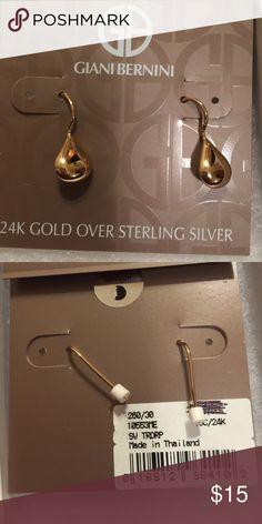 ❤️️🎉Guano Bernini earrings 24k Gold over sterling silver earrings Giani Bernini Jewelry Earrings
