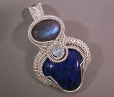Wire Wrapped Pendant  Azariel Necklace  N0132 by susyjewelry, $360.00
