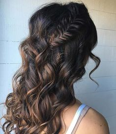 Wadding Hairstyle for Front View 350 7164 Smart Hairstyles, Formal Hairstyles, Bride Hairstyles, Vintage Hairstyles, Pretty Hairstyles, Hairstyle Ideas, Chocolate Brunette Hair, Curly To Straight Hair, Braids With Curls