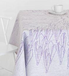 Linen table cloth Kielo, design Dora Jung 1967, Lapuan Kankurit