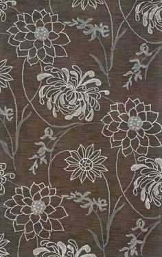 Casual Area Rug Rectangle Brown Color Sphinx Lotus Collection