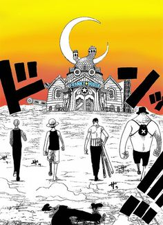 Straw Hat Pirates about to tear down the Franky House.