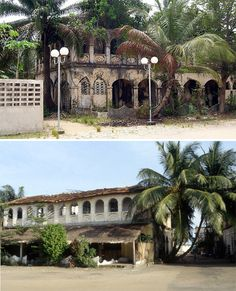 Abandoned Africa Grand Bassam Once the French colonial capital city, Grand-Bassam remained a key seaport of Côte d'Ivoire until the Uganda, Seychelles, Colonial Exterior, Im Coming Home, French Colonial, Colonial Architecture, Ivory Coast, Old Buildings, Africa Travel