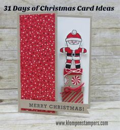 Stampin' Up! Cookie Cutter Christmas.  Cute & fun (and easy!)  New Christmas card ideas posted every day on blog!