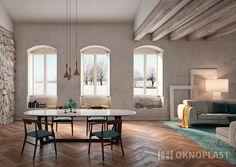Elegant classic living room with white windows by Oknoplast. #proluxevolution #oknoplast #windows #design #decor #home #homedecor #livingroom