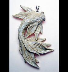 Polymer Clay Koi fish Jewelry