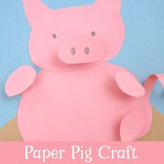 This fun paper pig craft for kids is so cute! 2019 is the year of the pig, celebrate with this fun construction paper craft that kids will love to make! Construction Paper Crafts, Construction For Kids, Pig Crafts, Preschool Activities, Travel Crafts, Animal Crafts For Kids, Fun Activities To Do, Business For Kids, Techno