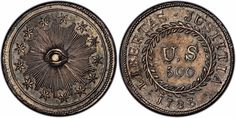 """A collector who purchased a rare U. """"quint"""" in 2013 says he has proof that it is the first coin ever minted in the United States, dating to And experts think he could be right. Gold American Eagle, American Coins, Early American, Us Coins, Rare Coins, One Coin, Coin Grading, Antique Coins, Founding Fathers"""