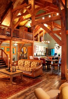 If I had a cottage or lake house, it would look something like this on the inside