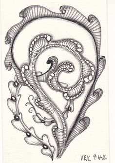 So simple and yet not. Tangle Doodle, Tangle Art, Zen Doodle, Doodle Art, Zentangle Drawings, Doodles Zentangles, Zentangle Patterns, Unique Drawings, Art Drawings