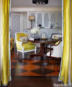 Chevron, stripes, checkerboard — even painted lily pads — these cool floors make a colorful statemen