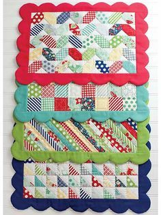 Scrappy Placemats Pattern. Would love this for a baby quilt!