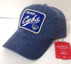 purchase cheap 91484 d7cdb CHICAGO CUBS HAT faded wash unstructured dad cap vtg 70s logo patch men  women