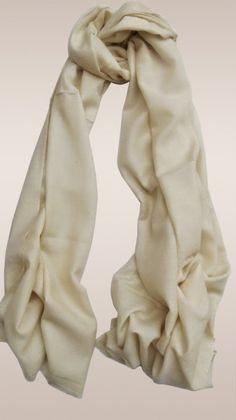 Attractive almond cream color #Pashmina #scarves
