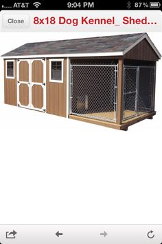 I love my pets on pinterest homemade dog food dog for Dog kennel shed combo plans