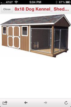 I love my pets on pinterest homemade dog food dog for Dog kennel shed combo plans