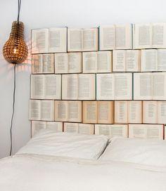 Decorar la pared con libros