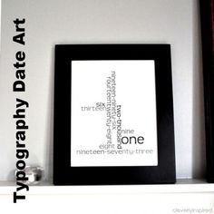 Typography Date Art