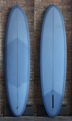 Periwinkle blue surf board.