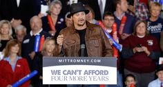 """Kid Rock now supports Romney & Ryan   """"I also want to be real clear that I am very proud to say that we had elected our first black president. I'm sorry, I'm sorry he didn't do a better job. I really wish he would have — I do, but the facts are the facts and we just saw them come to light in the last debate with no outside BS, no bias media involved, no interruptions and negative politics ads every five seconds and, most importantly, no damn teleprompters,"""" he said."""