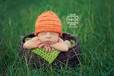 Pumpkin Head Hat~ #knitting pattern by Melody's Makings. #handmade