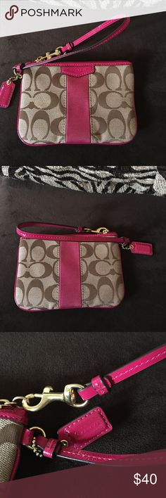AUTHENTIC Coach wristlet I don't think I have ever used this wristlet. There are no imperfections that I can see but if you wanna see anything close up just let me know😁  original owner and I bought it at the coach store. Coach Bags Clutches & Wristlets