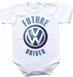 Baby bodysuit FUTURE VW DRIVER Volkswagen car One Piece Bodysuit Funny Baby Child boy girlen's Clothing Kid's Shower boy girl