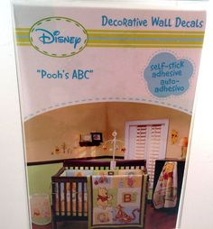 Disney Winnie Pooh's ABC Decorative Wall Decals Stickers Disney Rooh Removable #Disney