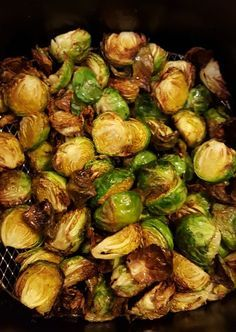 Air Fryer Recipes For Vegetables - SheKnows. Air Fried Brussel Sprouts Beauty And The Bench Press. Air Fried Brussel Sprouts Beauty And The Bench Press. Home and Family Air Fryer Oven Recipes, Air Frier Recipes, Air Fryer Dinner Recipes, Air Fryer Recipes Vegetables, Cooking Vegetables, Four Halogène, Fried Brussel Sprouts, Brussels Sprouts, Cooks Air Fryer