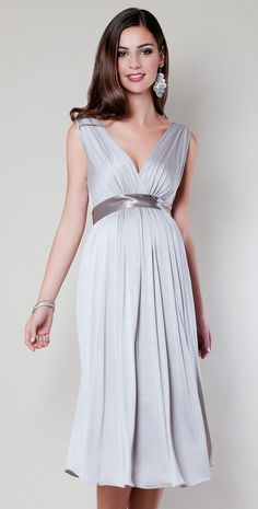 aa0fb71c524d6 Anastasia Maternity Dress Short (Silver Screen) - Maternity Wedding Dresses,  Evening Wear and