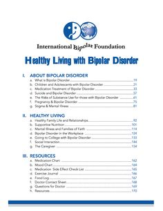 Healthy Living with Bipolar Disorder - [To receive a FREE pdf or hardcopy of this book, please e-mail Ashley at areitzin@internationalbipolarfoundation.org]