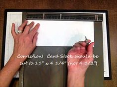 """Today's Stampin' Pretty 1 Minute to WOW! Video Tutorial demonstrates the  simple scores and folds involved.  Card stock was cut to 11 x 4 1/4"""" and  scored with the Stampin' Up! Simply Scored Scoring Tool the short distance at 2 3/4"""" and 5 1/2""""."""