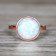 Rose Gold and Opal ring  Bohemian Gypsy Festival Jewellery  Indie and Harper
