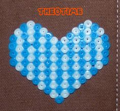 Heart design  hama beads