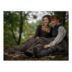 Image of Jamie and Claire smiling from Season 4 of the Outlander television series. Claire Fraser, Jamie And Claire, Jamie Fraser, Outlander Season 4, Outlander Tv Series, Show Runner, Caitriona Balfe, Historical Fiction