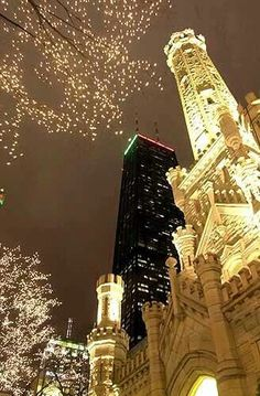 Chicago at Christmas time.