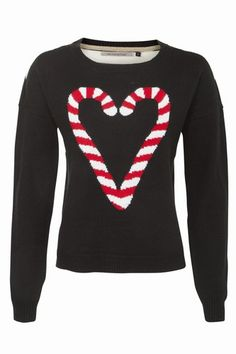 Black Pattern (Black) Black Candy Cane Jumper new look Cute Christmas Jumpers, Christmas Jumper Day, Xmas Jumpers, Christmas Shirts, Christmas Sweaters, Christmas Outfits, Christmas Tops, Christmas Clothes, Christmas Fashion