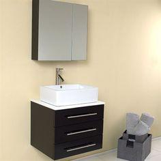 Fresca Modella Espresso Modern Bathroom Vanity w/ Medicine Cabinet