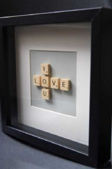 I think this would be awesome with a couples last name going across and their first names intersecting vertically.