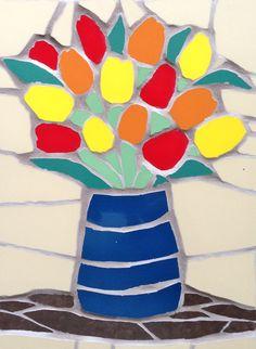 Mosaic Tile Table, Mosaic Vase, Mosaic Wall Art, Tile Art, Mosaic Designs, Mosaic Patterns, Wall Art Designs, Easy Patterns, Tree Designs