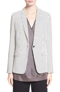 RAG & BONE 'Belmar' Stripe Silk Charmeuse Blazer. #ragbone #cloth #