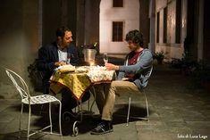 Neri Marcorè e Pierpaolo Spollon nella barchessa di Ca' Marcello