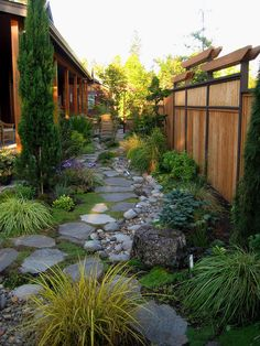 Steal these cheap and easy landscaping ideas for a beautiful backyard. Get our best landscaping ideas for your backyard and front yard, including landscaping design, garden ideas, flowers, and garden design. Small Backyard Landscaping, Landscaping Ideas, Walkway Ideas, Backyard Privacy, Rock Walkway, Fence Ideas, Backyard Patio, Path Ideas, Backyard Designs