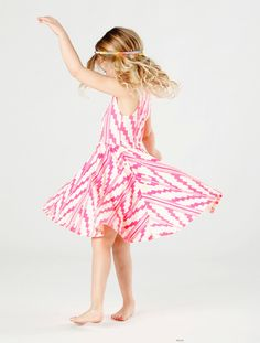 Southwest Twirling Dress in Hot Pink