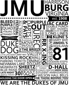 JMU Rememberance Print. $20.00, via Etsy.
