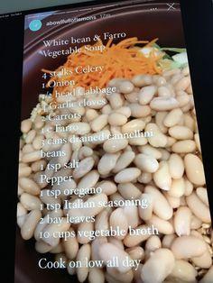 Cream Soups, White Soup, Soup Beans, Italian Seasoning, Black Eyed Peas, Celery, Soup Recipes, Onion, Carrots