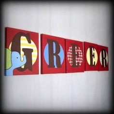 Custom Name Art 8x10 Letter Paintings on Canvas on Etsy, $15.00